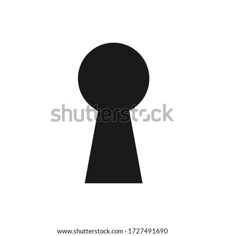 Lock icon. Keyhole vector icon isolated on white background.  Photo stock ©