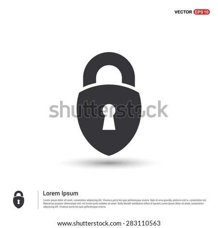lock icon, padlock icon - abstract logo type icon - isometric white background. Vector illustration
