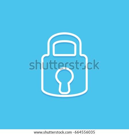 Lock icon. Security concept.