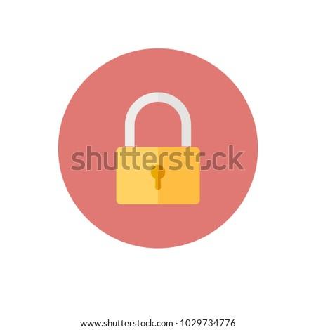 Lock icon vector Eps10