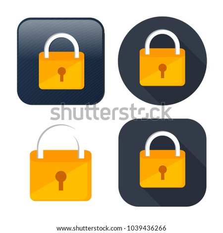 lock icon - vector padlock - security sign - safety symbol, safe web illustration