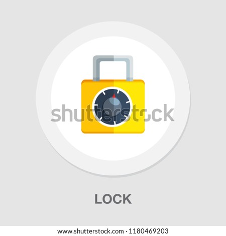lock icon - vector padlock - security sign - safety symbol, safe web illustration