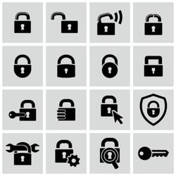 Lock icons set.