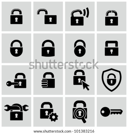 Lock icons set. Stock photo ©