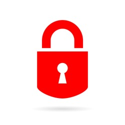 Lock silhouette vector icon on white background