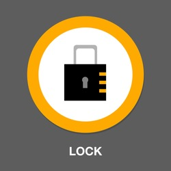 lock symbol icon. Simple element illustration. lock concept symbol design. Can be used for web and mobile UI/UX