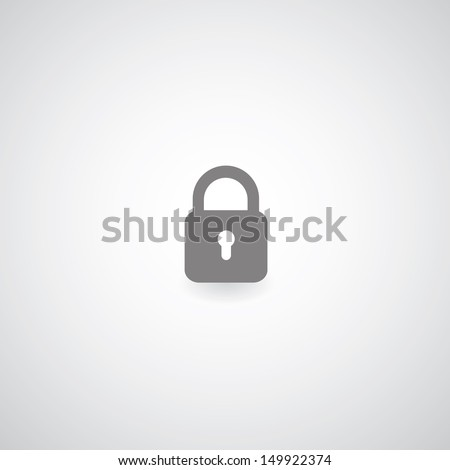 lock symbol on gray background Stock photo ©