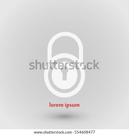 lock vector icon, flat design best vector icon