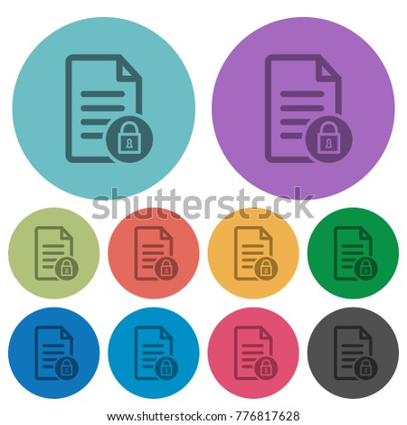 locked document darker flat