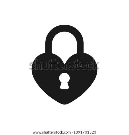 locked heart shaped padlock
