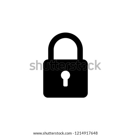 locked padlock icon. One of simple collection icons for websites, web design, mobile app