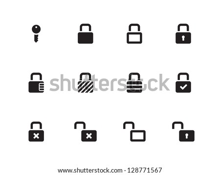 Locks Icons on white background. Vector illustration.