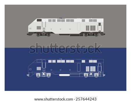 Car engine blue print download free vector art stock graphics locomotive blue print art malvernweather Gallery
