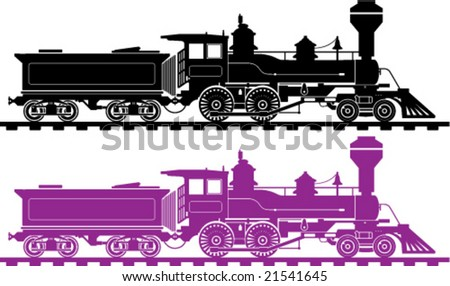 Locomotive Icon Illustration Vintage