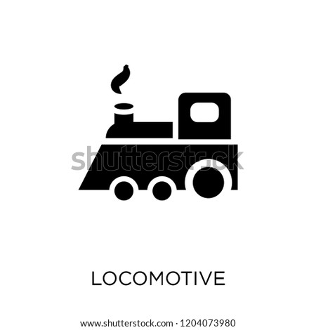 Locomotive icon. Locomotive symbol design from Desert collection. Simple element vector illustration on white background.