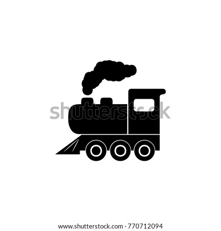 Locomotive iconIllustration of transport elements. Premium quality graphic design icon. Simple icon for websites, web design, mobile app, info graphics on white background
