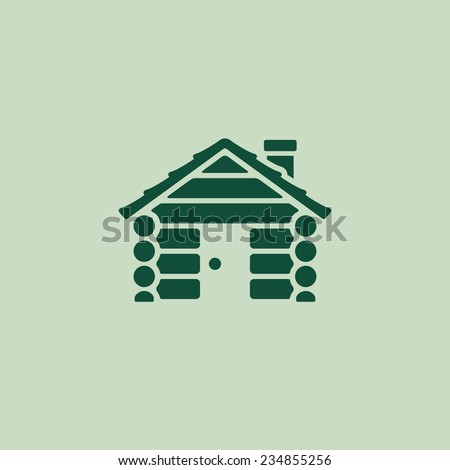 log cabin camping home graphic...
