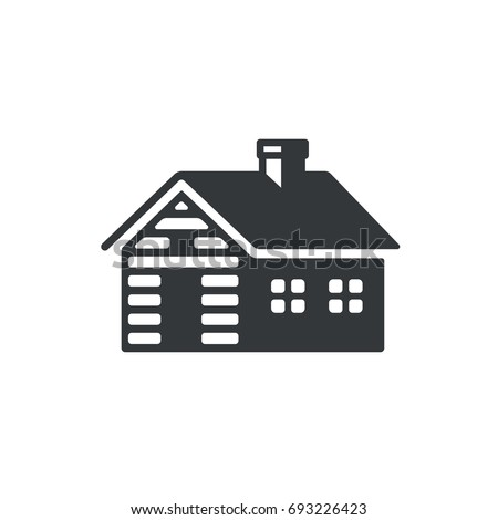 log cabin  simple icon or logo. ...