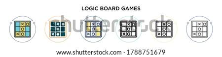 logic board games icon in