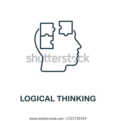 Logical Thinking icon from personality collection. Simple line Logical Thinking icon for templates, web design and infographics ストックフォト ©