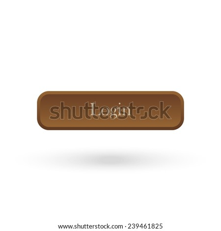 login   brown vector button for