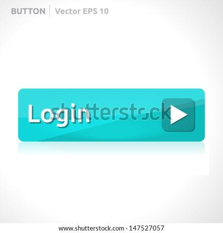 Login Buttons Icons Login Button Template   Vector