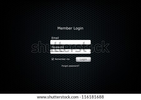Login Forms Background Login Form Page With Metal
