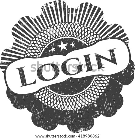 Login grunge style stamp