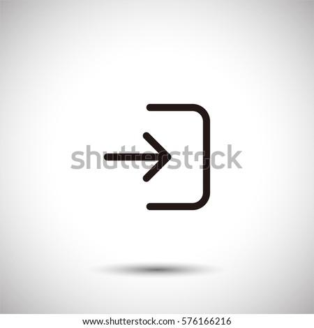 Login icon. Enter vector