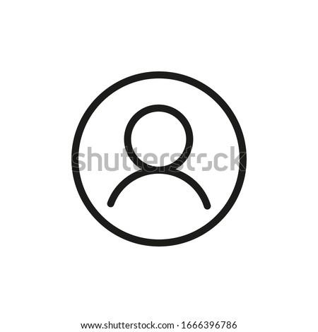 Login Icon Vector Line Symbol Foto stock ©