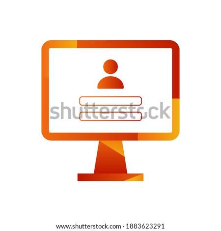 login screen on monitor