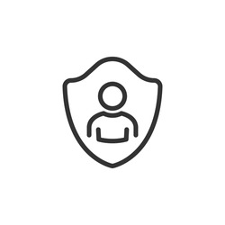Login security icon, access user account, people privacy, protect member social, password for unlock