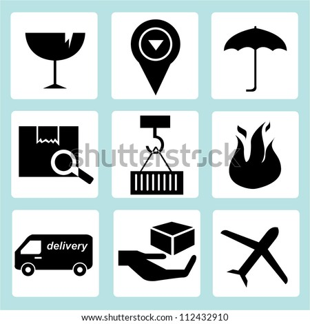 logistic and supply chain  icon set