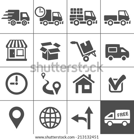 Logistic and transportation icons. Vector illustration