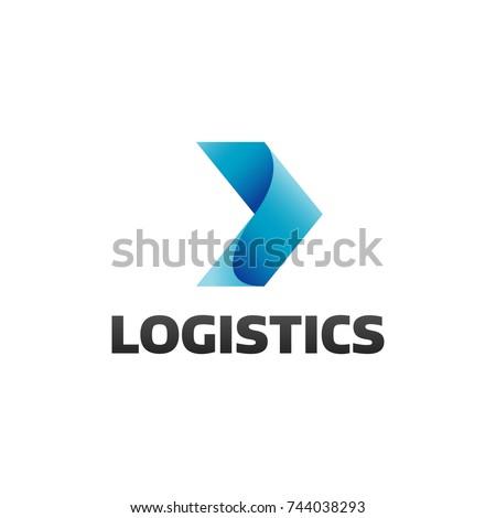 Logistic company logo. Arrow icon. Delivery icon. Arrow logo. Business logo. Arrow vector. Delivery service logo. Web icon. Network, Digital, Technology, Marketing icon.