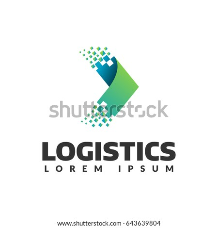 Logistic company vector logo. Arrow icon. Delivery icon. Arrow icon. Arrow vector. Delivery service logo. Web, Digital, Speed, Marketing, Network icon. Pixel logo.  Pixel art. Pixel icons. #643639804