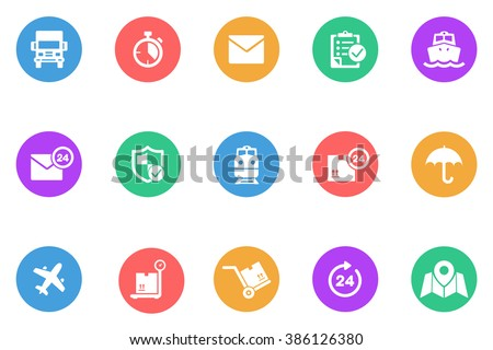 logistic icon flat