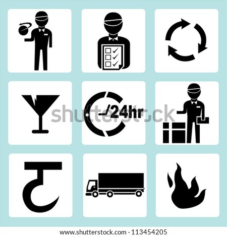 logistic, shipping business icon set
