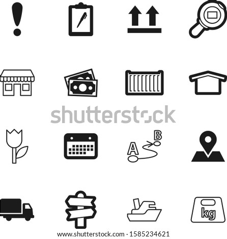 logistic vector icon set such as: beautiful, cash, beauty, payment, nobody, computer, motion, dock, front, strength, van, danger, app, boat, blank, warehouse, trendy, kg, truck, simple, construction