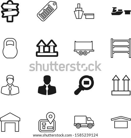 logistic vector icon set such as: carton, van, iron, shop, empty, digital, object, retail, stock, kilogram, button, gps, computer, logo, signpost, shelve, data, trailer, heavy, supermarket, care