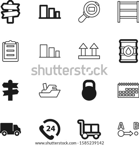 logistic vector icon set such as: check, telephone, cart, order, ship, marine, kilogram, calendar, project, month, management, location, ocean, motion, fuel, cardboard, moving, help, art, pin, weight