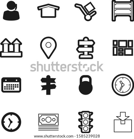 logistic vector icon set such as: equipment, kg, growth, search, architecture, pounds, simple, stop, storage, location, packaging, place, stoplight, finance, regulation, weight, man, kilogram, point