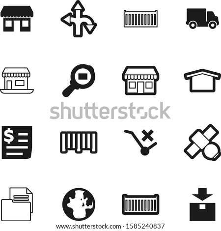 logistic vector icon set such