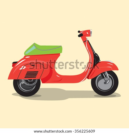 logistics and delivery scooter