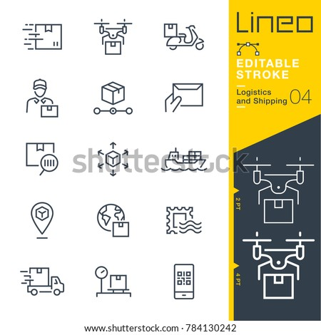 Logistics and Shipping line icons