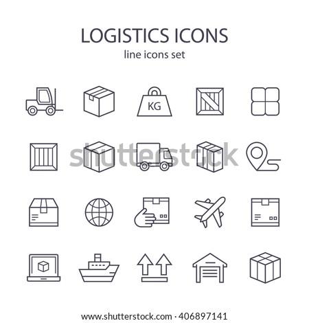Logistics icons.