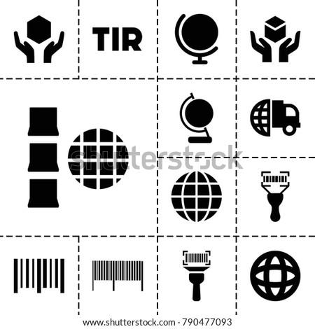 logistics icons set of 13
