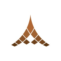 Logo A Letter Brown Triangle Abstract Arrow