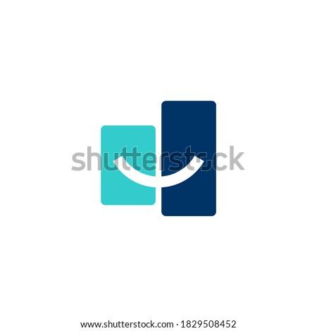 logo a smile curve that cuts