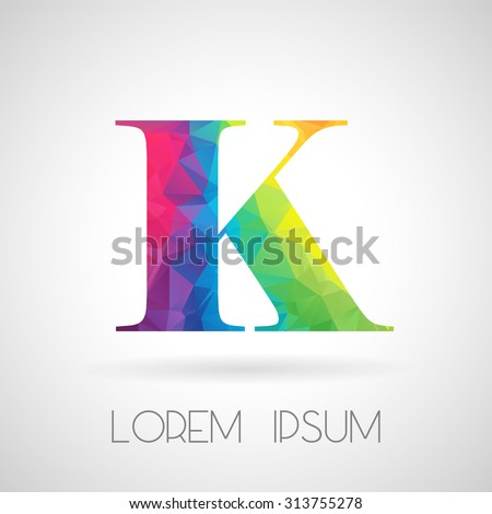 logo abstract polygonal k